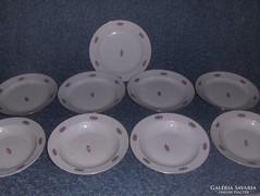 Zsolnay porcelán tányér készlet 9 db (5)