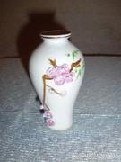 Virágmintás porcelán váza (24/d)