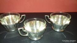 Ezüst kávéscséze 3 darab