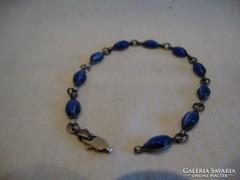 Ezüst karlánc kék kövekkel 925