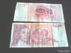 Eladó régi papír pénzek vegyesen