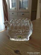 Svéd Lindshammar üveg dísz