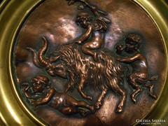 Antik puttós réz asztali kínáló 1872 !!!!