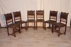 Antik ónémet felújítandó ónémet bőr székek!