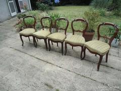 Antik bidermaier öt darab szalon szék