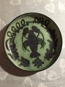 Kerámia falitál Gorka jelzéssel, ceramic bowl to the wall