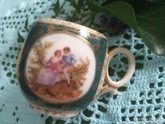 Antik , jelenetes Altwien kávés csésze