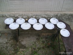 Régi Zsolnay, nefelejcses tányér, falitányér - 11 darab
