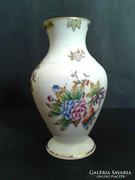 Herendi Viktória VBO váza, 16cm, makulátlan!