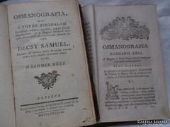 1788 Decsy Sámuel : OSMANOGRAFIA II-III.