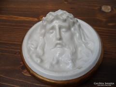 Porcelán Jézus fej fali kép