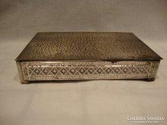 Ezüstözött iparművész fémműves retro doboz