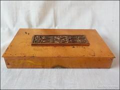 Iparművész vörösréz - fabetétes doboz