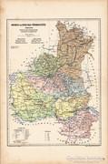Bereg- és Ugocsa- vármegye térkép 1905, eredeti