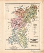 Bars vármegye térkép 1905, eredeti