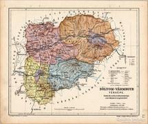 Zólyom - vármegye térkép 1905, eredeti