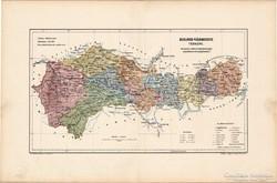 Kolozs vármegye térkép 1905, eredeti
