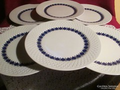 6 db anyagában mintás Schirnding lapos tányér  0930