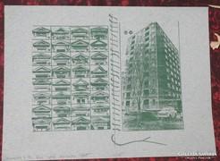 Csáji Attila ofsett- litográfia 1982 13/25