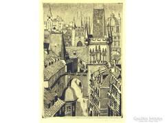 Ábrahám Rafael : Város tornyokkal