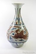 59 cm régi kínai váza