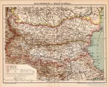 Bolgárország és Kelet - Rumélia térkép 1894, antik, eredeti