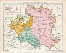 Lengyelország a három felosztás korában 1896, antik, eredeti