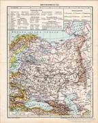 Oroszország térkép 1898, antik, eredeti