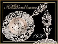 Holland ezüst teaszűrő