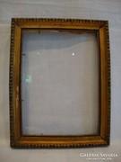 Üvegezett arany-fa képkeret falc 16,5x12 cm