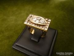 Art deco gyémántos-brilles gyűrű