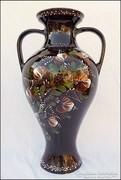 Mázas kerámia füles váza , 40 cm !