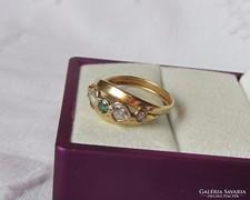 14 K arany gyűrű turmalinnal - 2,2 gr
