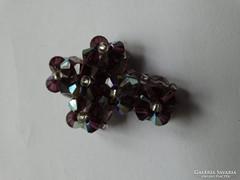 Aurora borealis gyöngyökből fűzött kereszt medál