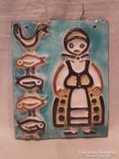 Borsódy Ágnes iparművész kerámia falikép