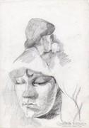 Portré tanulmány rajz