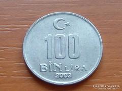TÖRÖK 100.000 100 BIN LÍRA 2003