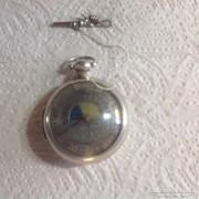 Nap& Hold álásu angol ezüst zsebóra 1750 körül
