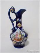 Kobaltkék jelenetes porcelán karaffa
