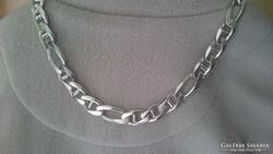 Ezüst masszív súlyos, dekoratív nyaklánc (115.6gr.)