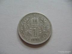 Ezüst 1 Korona 1902 Ritkább évjárat!