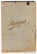Budapest képeslap, levelezőlap leporelló, füzet, színes