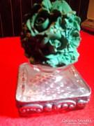 Antik  parfümös üveg ezüsttel diszitett