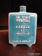 Régi, porcelán boros flaska (Zsolnay)