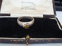Citrin köves ezüst gyűrű