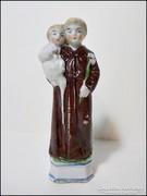 Szent Antal antik jelzett porcelán szobor