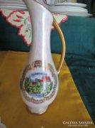 Aranyozott váza városképpel Bavaria  Leáraztam