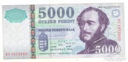 5000 forint 1999