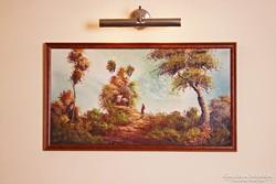 Keleties táj - szignózott csodás festmény