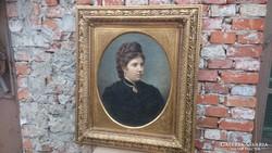 Antik biedermeier portré
